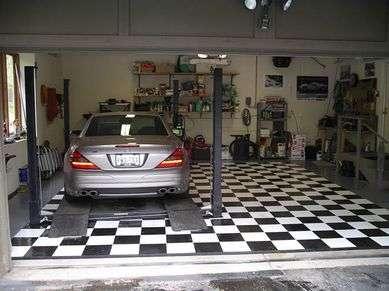 Напольная плитка для гаража