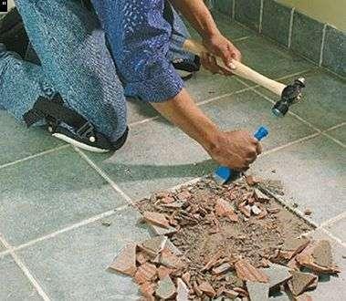 Как удалить поврежденную плитку