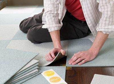Как уложить ковровую плитку?