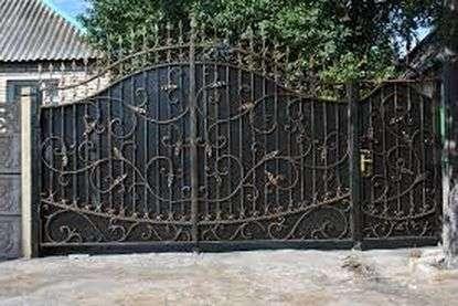 кованые ворота декоративные