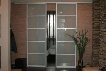 Межкомнатные перегородки и двери из стекла