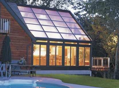 Стеклянные фасады для зимнего сада